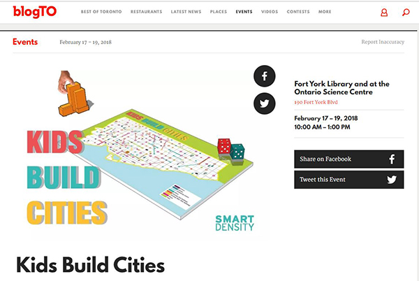 BlogTO kids build cities