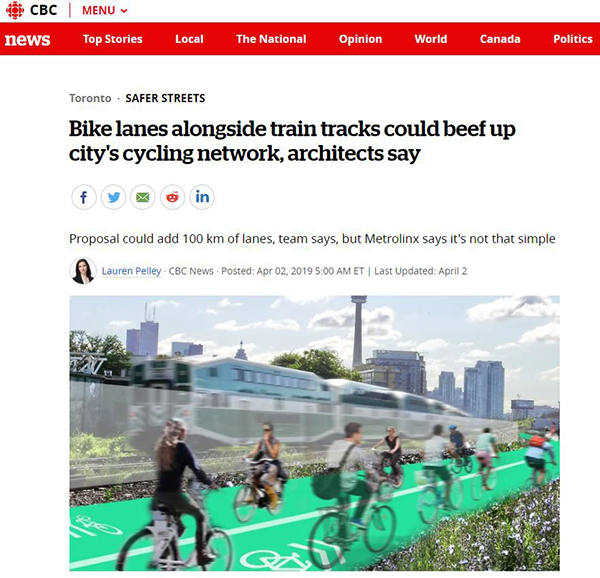 cbc bike lanes along side train tracks