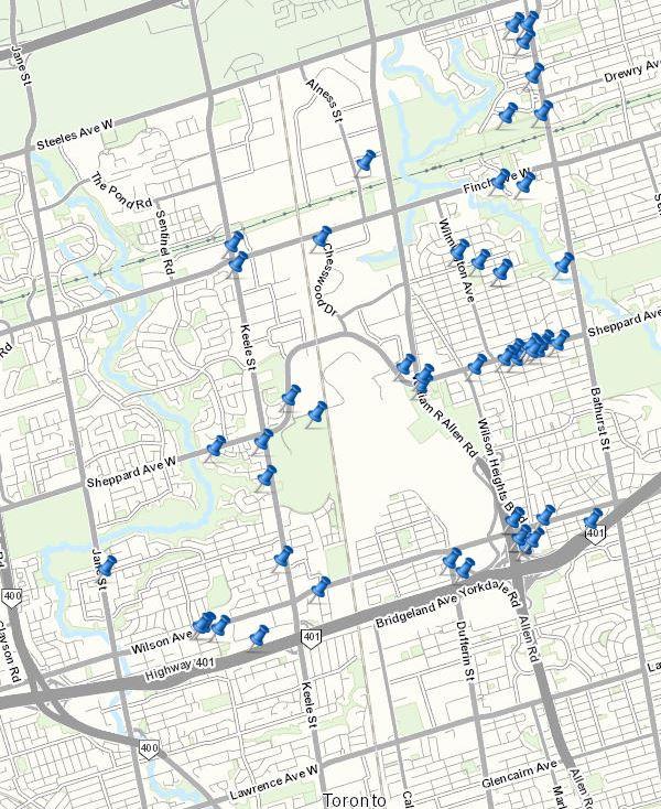 city of toronto development approvals map