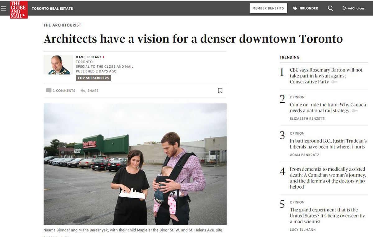 globe and mail article smart density