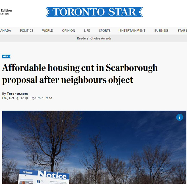 toronto staar housing affordbility scarborough